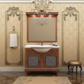 Мебель для ванной Opadiris Борджи 105 светлый орех