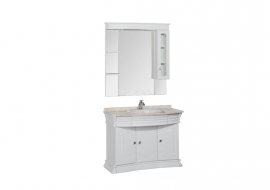 Мебель для ванной Aquanet Греция 110 сваровски (бежевый мрамор)