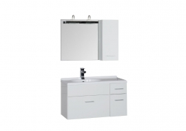 Мебель для ванной Aquanet Данте 85 зеркало со шкафчиком левая