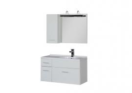 Мебель для ванной Aquanet Данте 85 зеркало со шкафчиком правая