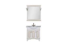Мебель для ванной Aquanet Валенса 90 белая краколет/золото