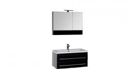 Мебель для ванной Aquanet Верона 90 подвесная черная