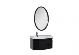 Мебель для ванной Aquanet Сопрано 95 черная распашная левая