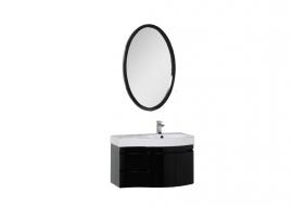 Мебель для ванной Aquanet Сопрано 95 черная распашная правая