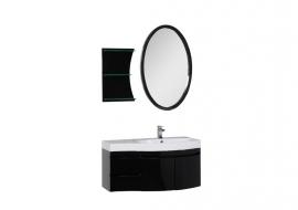 Мебель для ванной Aquanet Опера 115 распашная черная правая
