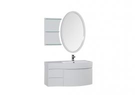 Мебель для ванной Aquanet Опера 115 белая с ящиком правая