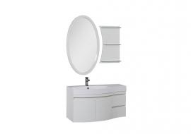 Мебель для ванной Aquanet Опера 115 распашная белая левая