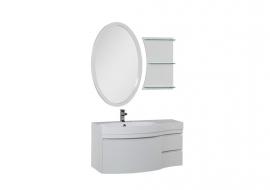 Мебель для ванной Aquanet Опера 115 белая с ящиком левая