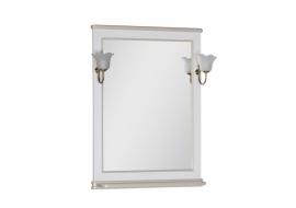 Зеркало Aquanet Валенса 70 белое краколет/золото