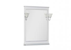 Зеркало Aquanet Валенса 70 белое краколет/серебро