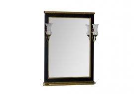 Зеркало Aquanet Валенса 70 черное краколет/золото