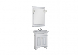 Мебель для ванной Aquanet Валенса 70 белая краколет/серебро