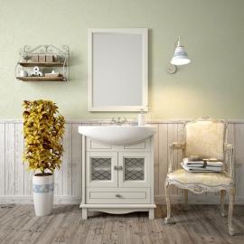 Мебель для ванной Opadiris Омега 75 слоновая кость