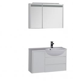Мебель для ванной Aquanet Лайн 90 правая
