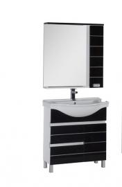 Мебель для ванной Aquanet Доминика 80 с б/к черная