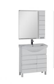 Мебель для ванной Aquanet Доминика 80 с б/к белая