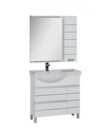 Мебель для ванной Aquanet Доминика 90 левая белая