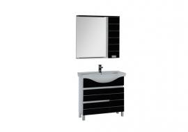Мебель для ванной Aquanet Доминика 90 черная