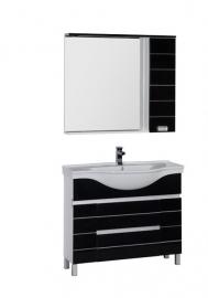 Мебель для ванной Aquanet Доминика 100 черная