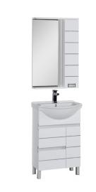 Мебель для ванной Aquanet Доминика 55 белая