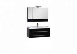 Мебель для ванной Aquanet Нота 100 Камерино черная