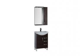 Мебель для ванной Aquanet Донна 60 (1 дверца 3 ящика) венге