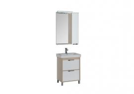 Мебель для ванной Aquanet Гретта 60 (2 ящика) светлый дуб