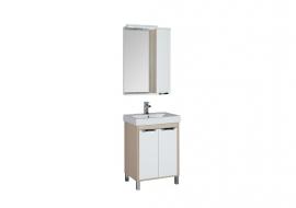 Мебель для ванной Aquanet Гретта 60 (2 двери) светлый дуб