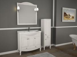 Мебель для ванной АСБ-Мебель Флоренция 105 белая патина