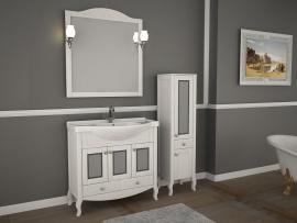 Мебель для ванной АСБ-Мебель Флоренция Витраж 105 белая патина