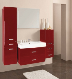 Мебель для ванной Акватон Америна 80 бордовая