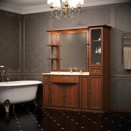 Мебель для ванной Opadiris Корсо Оро 7 светлый орех