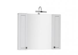 Зеркало Aquanet Честер 105 белое/серебро