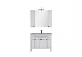 Мебель для ванной Aquanet Честер 105 белая/серебро