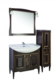 Мебель для ванной АСБ-Мебель Модена 85 темный орех