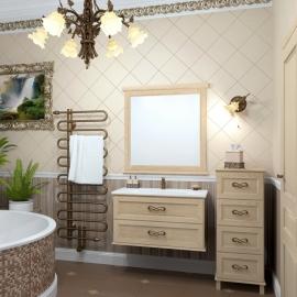 Мебель для ванной Opadiris Гарда 90 Бьянко