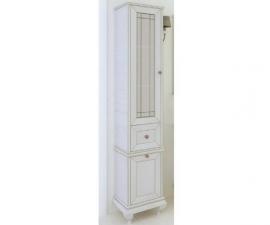 Шкаф-колонна Акватон Беатриче слоновая кость патина левая