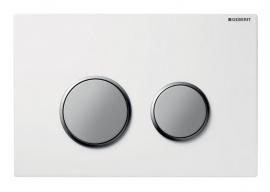 Смывная клавиша Geberit Sigma 20 115.778.KL.1 белый/хром матовый
