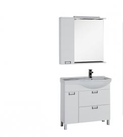 Мебель для ванной Aquanet Сити 90 правая белая