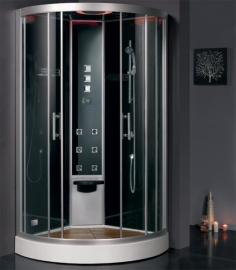 Душевая кабина Eago DZ949 F8 черное стекло 100*100