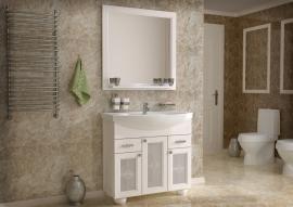 Мебель для ванной АСБ-Мебель Бергамо 85 белая