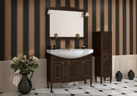 Мебель для ванной АСБ-Мебель Модена 105 темный орех