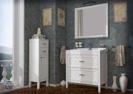 Мебель для ванной АСБ-Мебель Римини 80 белая патина
