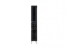 Пенал Aquanet Честер 30 черный/серебро