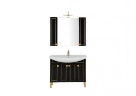 Мебель для ванной Aquanet Честер 105 черная/золото
