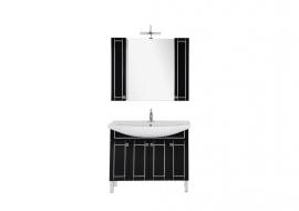 Мебель для ванной Aquanet Честер 105 черная/серебро