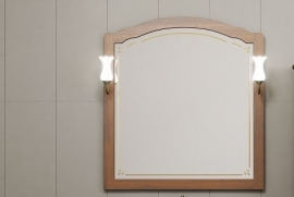 Зеркало Opadiris Лоренцо 100 светлый орех