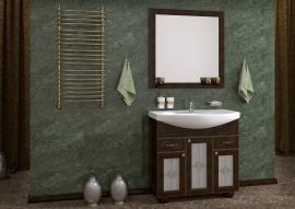 Мебель для ванной АСБ-Мебель Бергамо 85 орех