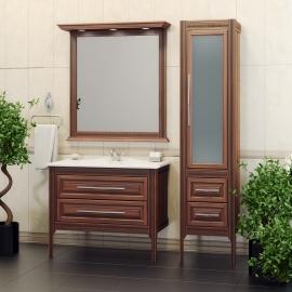 Мебель для ванной Opadiris Корлеоне 100 светлый орех/патина