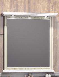 Зеркало Opadiris Корлеоне 80 белое/золотая патина